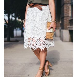 Ann Taylor Layered Lace Skirt